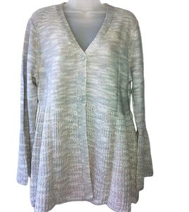 Style & Co Bell Sleeve Cardigan Knit Sweater